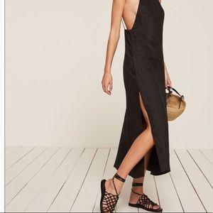 Reformation Lily dress black XS